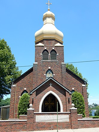 West Easton, Pennsylvania - Holy Ghost Ukrainian Catholic Church in West Easton.