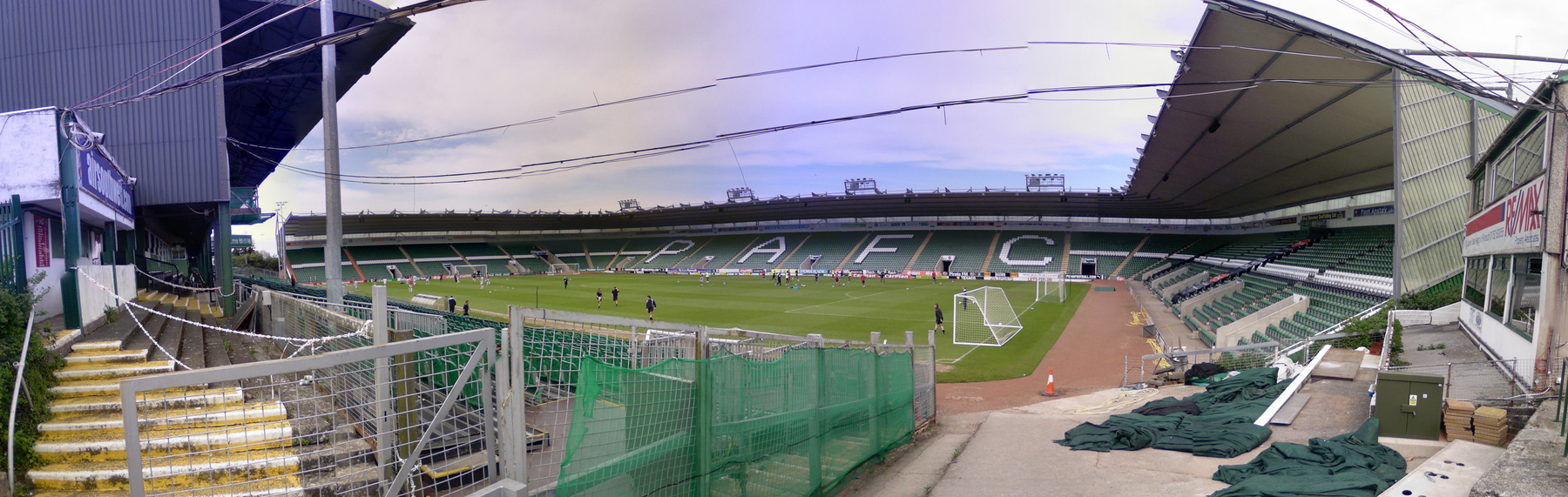 Inside Home Park From Corner Of Mayflower And Barn Before Reserve Match In The