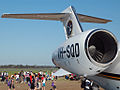 Honeywell (AlliedSignal) TFE73120 turbofans on a Singapore Flying College Learjet 45.jpg