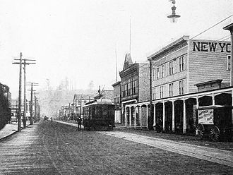 Hoquiam, Washington - Eighth Street, 1884