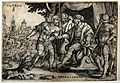 Horatius fighting off enemy soldiers to allow his soldiers t Wellcome V0048267.jpg