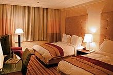 Una camera d'albergo al Renaissance Hotel, in USA