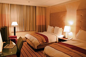Renaissance Hotels - An upscale hotel room in the Renaissance Hotels chain in the downtown Columbus, Ohio