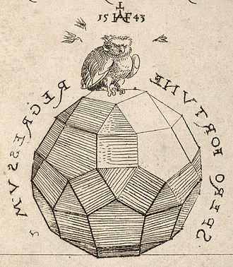 Rhombicosidodecahedron - Image: Houghton Typ 520.43.454, crop solid and owl