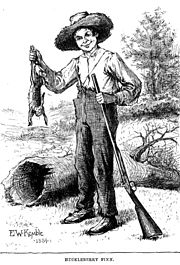 Huckleberry Finn, illustration by E. W. Kemble from the original 1884 edition of the book by Mark Twain