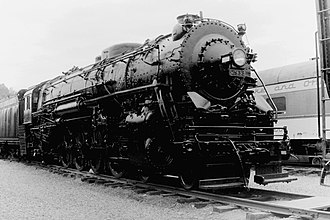New York Central Mohawk - Preserved L-2d class locomotive number 2933 at the Museum of Transportation in St. Louis in August 1970