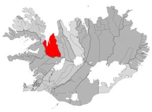 Húnaþing vestra - Image: Hunathing vestra map