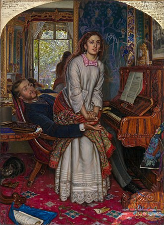 William Holman Hunt - The Awakening Conscience (1853)