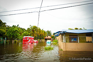 Hurricane Karl - Flooding from the storm in Veracruz