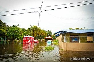Hurricane Karl - Flooding from the storm in Veracruz