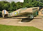 Hurricane replica at Battle of Britain memorial.jpg