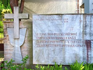 Czechoslovak Hussite Church - Memorial of foundation of the Church in Prague.