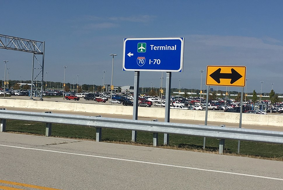 I-70 and Terminal sign in Indianapolis