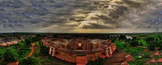 Indian Institute of Management Indore - Viewing IIM Indore Campus at dusk.