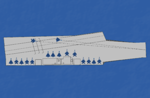 A schematic diagram of INS Vikrant
