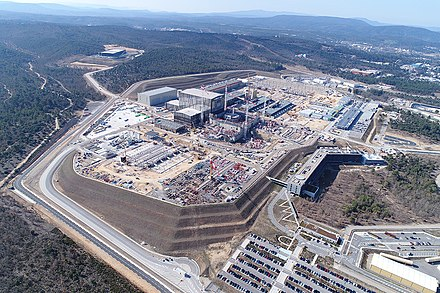 Aerial view of the ITER site in 2018 ITER site 2018 aerial view (41809720041).jpg