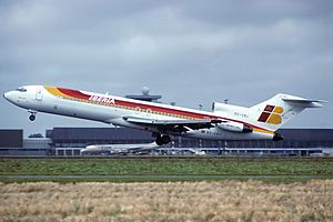 Iberia Airlines Flight 610 - An Iberia Boeing 727-200 similar to the one involved