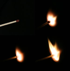 Fire - Process of ignition of a match