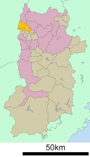 Ikoma District, Nara - Location of Ikoma District in Nara Prefecture