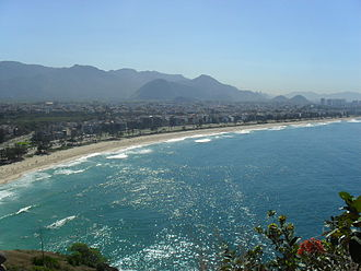 Barra da Tijuca - View of Recreio dos Bandeirantes, Barra da Tijuca, from Pontal's Island.