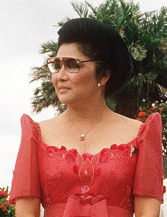 Chairperson of the Metropolitan Manila Development Authority - Image: Imelda Marcos (1984)