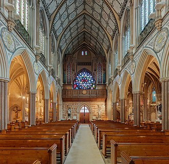Church of the Immaculate Conception, Farm Street - Entrance and church organ