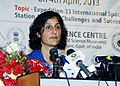 Indian origin NASA Astronaut, Ms. Sunita Williams interacting with the press, in Mumbai on April 04, 2013.jpg
