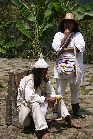 Race and ethnicity in Colombia - Indigenous Koguis Shaman at Ciudad Perdida