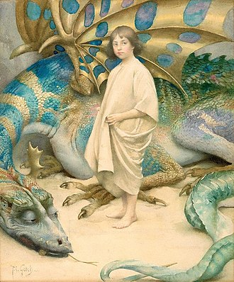 1904 in art - Image: Innocence, c 1904, watercolour by Thomas Cooper Gotch