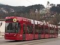 Innsbrucker Verkehrsbetriebe (IVB) Tram car No 351 serving line 1 at Fritz-Konzert-Brücke.jpg