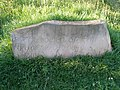 Inscribed stone at Cowpen Bewley, County Durham, England.jpg