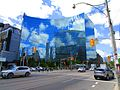 Interesting reflection on the Hydro building, SE corner of University and College, 2017 06 01 -a (35043410075).jpg