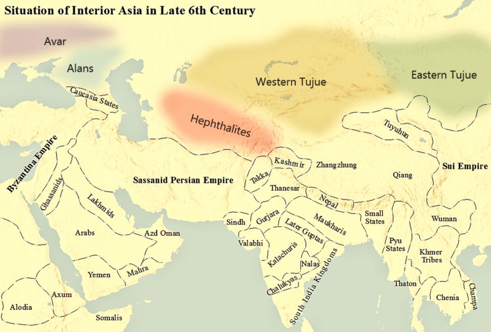 Interior Asia 6th century