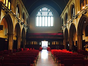Fourth Universalist Society in the City of New York - Interior of Sanctuary, Back