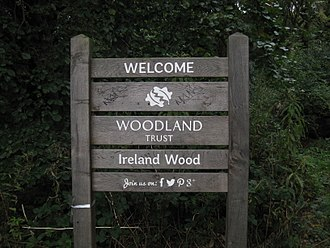 Woodland Trust - Trust Sign in Ireland Wood
