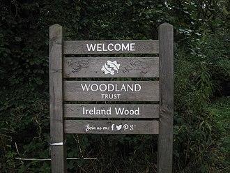 Woodland Trust - Trust Sign in Ireland Wood