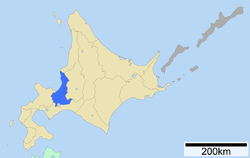 Location of Ishikari Subprefecture