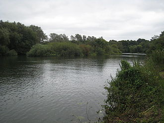 Sonning Hill - The island in the Thames near Sonning Hill.