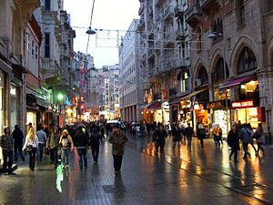 İstiklal Avenue - İstiklal Avenue in the Beyoğlu district of Istanbul