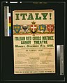 Italy! Italian Red Cross matinee, Savoy Theatre, Monday, December 4th, 1916 LCCN2003675374.jpg