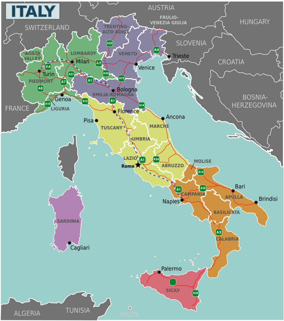 Italy - Travel guide at Wikivoyage