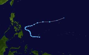 1960 Pacific typhoon season - Image: Ivy 1960 track