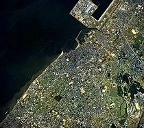 Izumisano city center area Aerial photograph.1985.jpg