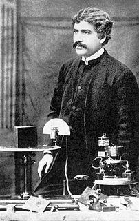 Jagadish Chandra Bose in his lab