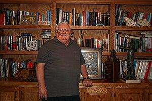 J. D. Jones - Jones with awards given as Pistolsmith of the year; Handgun Hunters Hall of Fame, Outstanding American Handgunner