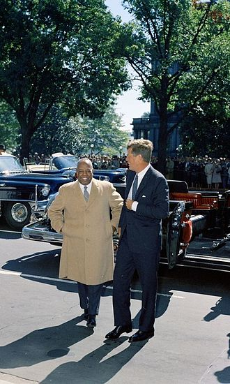 Sudan–United States relations - Ibrahim Abboud visiting the White House with President Kennedy in 1961