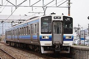 Akō Line - 213 series EMU on an Akō Line local service at Osafune Station