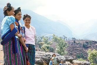 Jakaltek people - On the path between Jacaltenango and San Marcos.