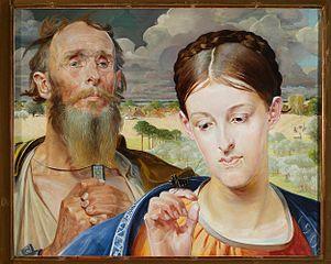Jacek Malczewski - Music, the left part of the triptych