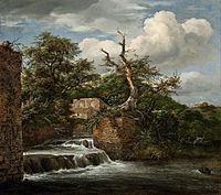 Jacob van Ruisdael - Landscape with a mill-run and ruins - Google Art Project.jpg
